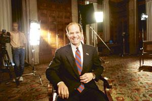 In a spot: Former New York governor Eliot Spitzer patronized an escort service. (Nathaniel Brooks / Bloomberg)