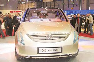 Crossover platform? Tata Xover, a concept vehicle that Tata Motors unveiled at the Geneva Motor Show in 2005.
