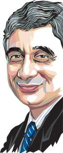 Om Prakash Bhatt,  SBI chairman (Illustration by: Malay Karmakar / Mint)
