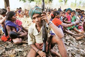 In focus: Tribals captured at a Maoist rebels meet in Chhattisgarh.