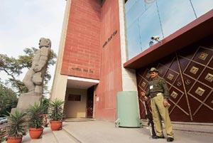 Off guard: The RBI building in New Delhi. RBI's decision to hike the cash reserve ratio (CRR) was a dampener though the central bank's move to combat inflation should have been widely anticipated. (Ph