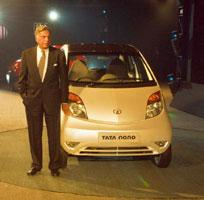 Brand stand: Tata group's Ratan Tata. The Nano, and the Jaguar and Land Rover acquisition, could help Tata break into the top 50 in 2008. (Ramesh Pathania / Mint)