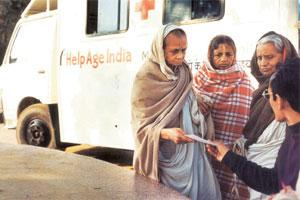 Aid check: HelpAge's health care service in Vrindavan. NGOs say the proposed change will come in the way of their capacity to raise resources and is against the policy which encourages them to stand o