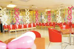 Growing pains: A Bikanervala birthday party venue in Gurgaon. The Bikanervala chain charges around Rs180 per child for food buffets and a bit extra for a magician or a tattoo painter as entertainment.