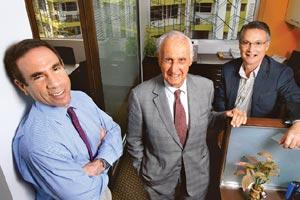 India-oriented: (L to R) Managing members of Helix Investments David Danziger, Edgar M. Cullman Sr and Edgar M. Cullman Jr. The Helix fund was constituted in April 2006 with a $100 million corpus. (Ph