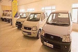Second run: A Maruti True Value showroom in New Delhi. Experts say the entry of more organized players could, in the long run, lead to healthy growth in used-car retail.