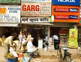 Trouble in store? The survey says small stores located in areas where big branded stores opened have seen a 16% decline in sales and profit. (Madhu Kapparath / Mint)
