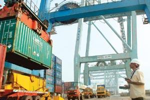 Handling crisis: A file photo of Jawaharlal Nehru Port, India's biggest container port. A move by the shipping ministry to check intermediary activities has been stalled due to stakeholder pressure. (