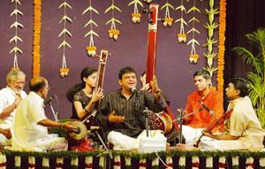 The right note: Vocalist T.M. Krishna in concert.