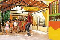 Active learning: Activities at a Shemrock franchisee school in Bangalore. Curricula in these schools include singing, listening to stories, drama, plays, dances, group projects and outdoor games. (Pho