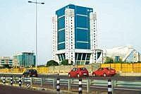 Stalled project: DLF's Gurgaon office. Its Bangalore project, which was to be launched in April, has now been delayed till August this year, the second time it is being postponed. (Photo: Rajeev Dabra