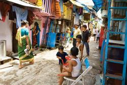 Designer dreams?Projects such as the redevelopment of Dharavi, Asia's largest shanty town, are still at the bidding stage, and facing stiff opposition from residents. (Madhu Kapparath/Mint)