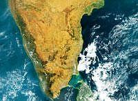 Area of controversy: A satellite image showing the Ram Sethu