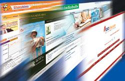 Screen shots of some popular online trading websites such as Sharekhan.com, Icicidirect.com and Indiabulls.com