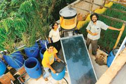 The Vishwanath family recycles water used in the bathroom and in washing machines for horticulture (Photo by: Hemant Mishra / Mint)