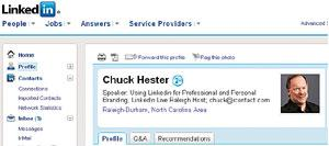 Reach out: Chuck Hester has a LinkedIn network of more than 500 users.