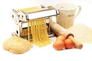 Mama mia: Pasta can be frozen after it has been cut into shape.