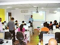 Grooming talent: A training session in progress at KPO Academy in Bangalore. The company is one of the many new start-ups in the burgeoning training sector