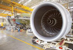 A file photograph of the engine of an A380 on the plane's production line at the Airbus factory in Toulouse, France. Vijay Mallya-promoted Kingfisher Airlines is the sole Indian customer of A380, with
