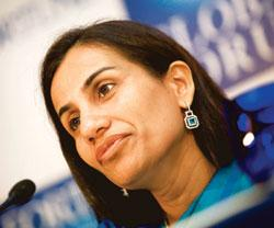 Chanda Kochchar, joint managing director and chief financial officer of ICICI (Photo by: Bloomberg)