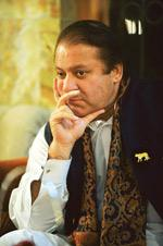 What next? A file photo of Pakistan Muslim League leader Nawaz Sharif. According to Sharif, restoration of deposed judges is the most important job for the new government. (Photo: Aamir Quereshi/AFP)