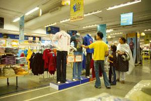 Bright prospects: A Big Bazaar store in Bangalore. The Icrier report said the retail sector is likely to grow at 13% till 2011-12 where organized retail is expected to swell at a torrid pace of 45-50%