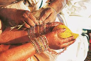 Rite of passage: Muhurtham is when the bride and groom tie the knot. (Photograph: IndiaPicture