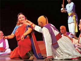 A performance of Ghasiram Kotwal. Photograph: PTI