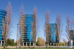 Catching on: Oracle Corp. headquarters in Redwood City, California. Vendors such as Microsoft and Oracle are using the pay-as-you-use model to tap a broader market and add to the sales of licensed sof