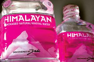 Fetching a premium: Bottles of Himalayan mineral water.
