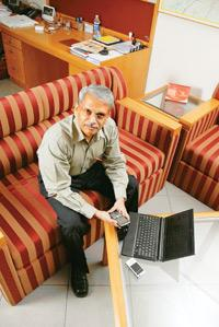 View from the top: Infosys chief executive S. Gopalakrishnan (Photo by: Hemant Mishra / Mint )