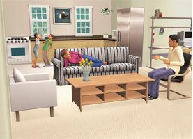 Digital decor: Spruce up your Sims living room with the latest Ikea products.