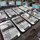 Blackberry Curve handsets. Photograph b y Norm Betts/ Bloomberg
