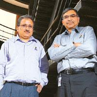 Suresh Vaswani (left) and Girish Paranjpe, joint chief executive officers of Wipro's information technology business (Photo by: Hemant Mishra / Mint)