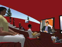 New avatar: A grab from ArcelorMittal's shareholder meeting in Second Life, the popular online virtual world.