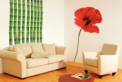Plage SA uses a digital image of a giant poppy on the wall