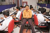 Innovative hiring: Suresh B. Kamath, managing director, Laser Soft Infosystems Ltd. The company has 25 'non-graduate' software engineers, about 5% of its headcount of 530 people.
