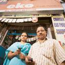 Small beginnings: Both Shyama Kumari and her father have a mobile bank account with a local medico
