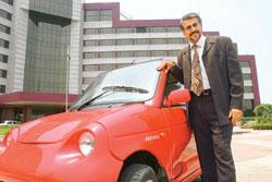 Reva Electric Car deputy chairman and chief technology officer Chetan Kumaar Maini hopes to induce people who are buying a second or even a third car to choose an electric vehicle (Photo by: Manoj Ver