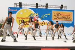 Innovative marketing: Dancers at Parsvnath Fiesta, a promotional event organized by Parsvnath Developers Ltd. Real estate companies are adopting new marketing techniques to attract reluctant homebuyer