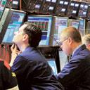 Tough days: A file photo of the NYSE trading floor