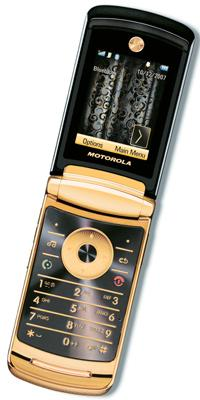 Gold standard: The luxury phone comes with a snakeskin pouch and suede cleaning cloth.