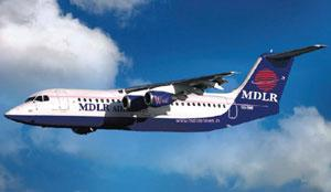 On course: MDLR airlines has started operations with 3 Avro planes.