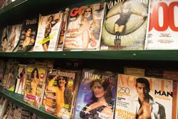 Western explosion: Magazines on display at an Oxford Bookstore outlet in New Delhi. Despite rising inflation and a slowing economy, India remains one of the world's bright spots for magazine publishin