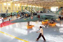 Mid-life extension: A file photo of Hindustan Aeronautics Ltd's Jaguar workshop in Bangalore. (Photo: Jagadeesh NV/Reuters)