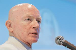 Bottom fishing: A file photograph of Templeton Asset Management's Mark Mobius.