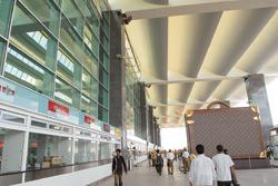 Constant criticism: An inside view of the new airport in Bangalore. (Photo: Hemant Mishra/Mint)