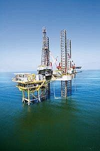 In short supply: Offshore vessels such as jack-up rigs (above) play a key role in the hunt for oil and gas
