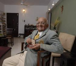 Leo Pinto was the goalkeeper of the 1948 gold medal winning hockey team. (Photo by: Abhijit Bhatlekar / Mint)