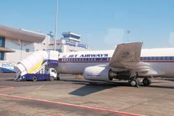 Cost pressure: A file photo of a Jet Airways plane at Mumbai airport. Jet will declare its results on Tuesday. Photograph: Hemant Mishra/Mint